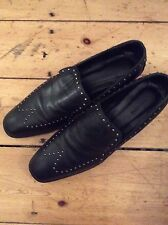 All Saints Black Leather Studied Loafers Size 40/7