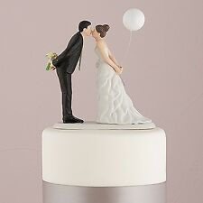Romantic Kiss Bride and Groom Mr & Mrs Couple Figurine Party Wedding Cake Topper