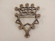 Vtg ROBERT ALLISON Scottish Luckenbooth BROOCH Pin STERLING SILVER HEART & CROWN