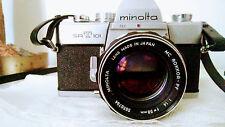 Minolta SR-T 101 35mm SLR Film Camera with 58 mm lens Kit