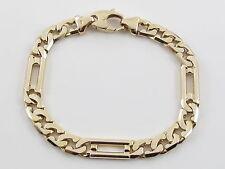 "14K Yellow Gold Cuban And Figaro Link Men's Bracelet 8 1/2"" / 34.3 grams"