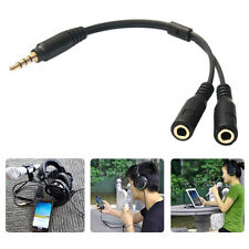3.5mm Male TRRS to 2 Female TRS Audio Connector TRRS Y Splitter Cable Adapter