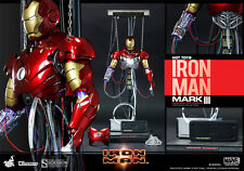 HOT TOYS IRON MAN MARK III CONSTRUCTION VERSION 1:6 FIGURE ~Sealed in Brown Box~