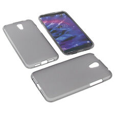 Case for Medion Life E5004 + Foil Case Cover TPU Gummi Case Grey