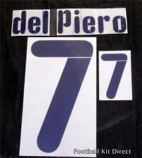 Italy Del Piero 7 Euro 2008 Football Shirt Name Set Kit Away