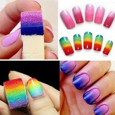 8 Pcs DIY Nail Art Equipment Makeup Soft Sponges Color Change Manicure Tools