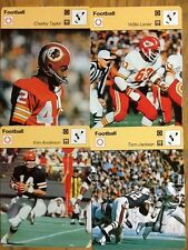 Sportscaster Cards Football:Charley Taylor,Ken Anderson,Tom Jackson & W. Lanier