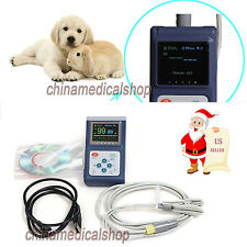 Veterinary Hand-held Pulse Oximeter SpO2 Monitor blood oxygen for animals USA