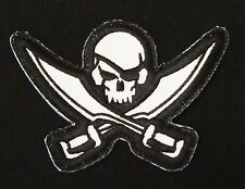 PIRATE SKULL DIECUT TACTICAL ARMY COMBAT SWAT VELCRO® BRAND FASTENER PATCH