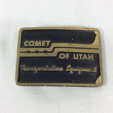 Comet Of Utah Transportation Equipment Belt Buckle Trucker Dynabuckle Provo Utah