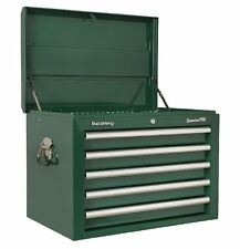 SEALEY SUPERLINE PRO TOPCHEST 5 DRAWER WITH BALL BEARING RUNNERS - GREEN