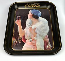 Coca-Cola Coke Blech Tablett USA Serviertablett Motiv 1925 Cola Lady - Jahr 1973