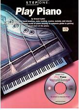 Step One, PLAY PIANO, by Erbest Lubin, NEW Book and CD