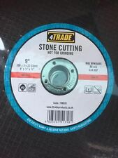 """4TRADE 9"""" 230 x 3mm STONE CUTTING DISC BLADES FOR ANGLE GRINDERS PACK OF 50 NEW"""