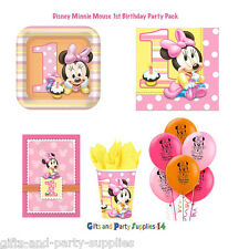 Disney Minnie Mouse 1st Birthday Party Supply Decorations-Party Pack of 46 Piece
