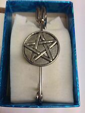 "Pentacle / Pentagram PP-G34 Pewter Emblem Kilt Pin Scarf or Brooch 3"" 7.5 cm"