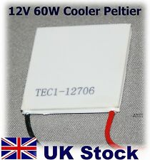 12V 60W Thermoelectric Peltier Cooler  TEC1 12706  92W max - UK Stock