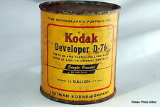 Kodak Developer D-76 (9204031) 1/2 Gallon can vintage rusted