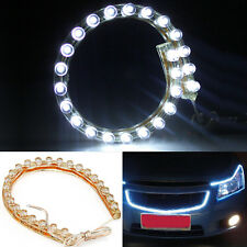 2 x White LED Neon Strips For Car 12V Light Van Motorbike Flux Ribbon 24 Bulbs