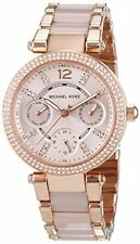Michael Kors Women's MK6110 Rose Gold Mini Parker Blush Acetate Watch