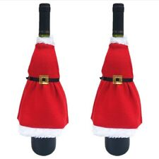 Santa Wine Bottle Cover Bags Christmas Dinner Party Xmas Wrap Pouch Decoration