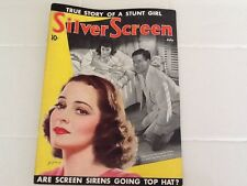 1938 Silver Screen Charle Boyer Luise Rainer Basil Rathbone  Fashion Gossip