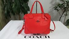 NWT Coach Grain Leather Mickey Satchel Handbag F34040 Cardinal