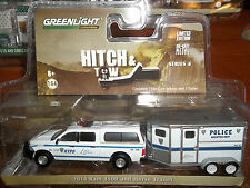 GREENLIGHT 1/64 HITCH & TOW SERIES 4 2014 RAM 1500 AND HORSE TRAILER NYPD POLICE