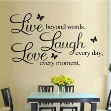 Quote Wall Decal Decor Vinyl Removable DIY Art Paper Mural Room Stickers Home