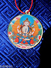 4 ARM CHENREZIG AVALOKITESHVARA & MANTRA TIBETAN BUDDHIST PENDANT NECKLACE NEW