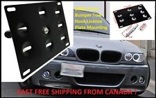 BMW Front Bumper Tow Hook License Plate Mounting Bracket Holder 1 3 X5 X6 E