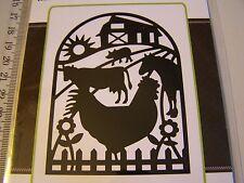 Die Versions Whispers GOOD MORNING FARM  METAL DIE CARDS & SCRAPBOOKING DVW-239