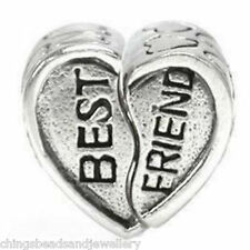 10 Tibetan Silver large Hole Heart Beads 13x8mm For European Bracelet