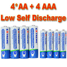 8 (4 AA+4 AAA) Low Self discharge/Hybrid/LSD NiMH Rechargeable battery