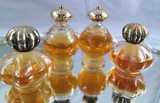 SET OF 4 VINTAGE AVON COLLECTIBLE PERFUME/COLOGNE BOTTLES WITH GOLD LIDS