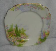Royal Albert Kentish Rockery Crown China  Gold-Colored Edge Side Plate As  Seen