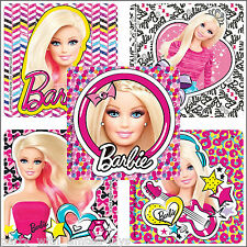 Barbie Stickers x 5 - Birthday Party Favours Supplies - Pink/Fab/Dolls Loot Bags