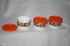 Tupperware Halloween Snack Cup Set of Three 4oz Containers New