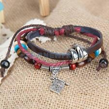 Pirate Flag Beads Unisex Braid Bracelet Girl Boy String Band Bangle
