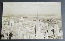 Old Aerial View Real Photo Postcard - New York City & The Chrysler Building USA