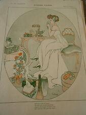Etrennes Fleuries Bibelots et Bijoux Print Art Déco 1908