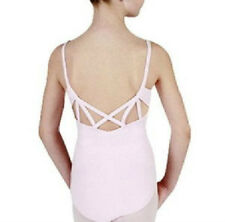 Capezio 9904 Adult Small (4-6) Pink Strappy Back Cami Leotard (Slightly Stained)