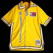 100% Authentic Warriors Mitchell Ness Shooting Shirt Size L 44 - curry