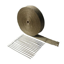 "2""x 100'Titanium Exhaust Heat Wrap For Car & Motorcycle Exhaust Tape Cable ties"