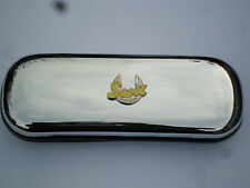 SCOTT yellow  MOTORBIKE  brand new chrome glasses case great gift!!!Christmas