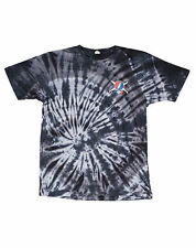 Fourstar Men's Jerry Hsu Tie Dye Skull Pirate Washed Grey T shirt  Sample- Large