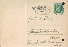 Halle/Saale, tarjeta postal 1927, Ernestine Hellmann puestos-mediador