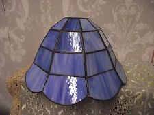 "TIFFANY NOUVEAU STYLE LEADED GLASS BLUE MARBLED CEILING LIGHT SHADE 5.5""H x 10""W"