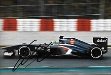 Esteban Gutierrez  SIGNED 12x8, F1 Sauber-Ferrari C32, Jerez Test 2013
