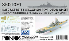 Pontos Model 1/350 USS BB-64 Wisconsin 1991 Detail Up Set #PS-35010F1